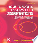 How to Write Essays and Dissertations