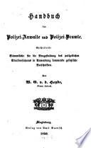 Handbuch f  r Polizei Anwalte und Polizei Beamte