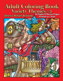 Adult Coloring Book Variety Themes  2