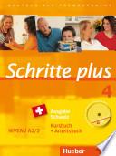 Schritte plus 4 Ausgabe Schweiz  Kursbuch   Arbeitsbuch mit Audio CD
