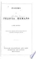 Poems of Felicia Hemans