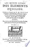 Les XV livres des El  ments d Euclide