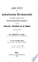Archiv für katholisches Kirchenrecht
