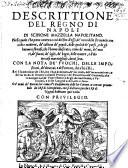 Descrittione del regno di Napoli  etc