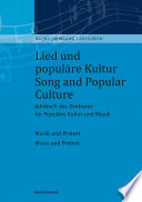 Lied und popul  re Kultur   Song and Popular Culture 60 61  2015 2016