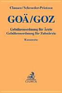 GOÄ/GOZ