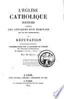L   glise catholique justifi  e contre les attaques d un   crivain qui se dit orthodoxe    Alexandre de Stourdza