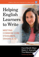 Helping English Learners to Write Will Help Teachers Improve The Academic Writing