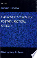 Twentieth century Poetry  Fiction  Theory