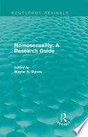 Ebook Routledge Revivals: Homosexuality: A Research Guide (1987) Epub Wayne R. Dynes Apps Read Mobile
