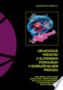 Oblikovanje predstav o slovenskih pokrajinah v izobraževalnem procesu