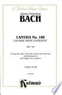 Cantata No  188    Ich habe meine Zuversicht