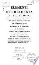 Elementi di Chirugia recati dall idioma tedesco nell italiano