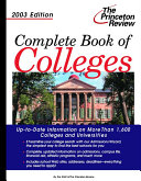 Complete Book of Colleges 2003