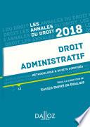 Droit administratif 2018  M  thodologie   sujets corrig  s