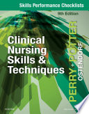 Skills Performance Checklists for Clinical Nursing Skills   Techniques   E Book