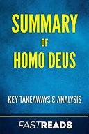 Book Summary of Homo Deus