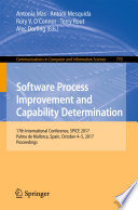 Software Process Improvement and Capability Determination