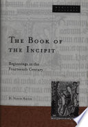 The Book of the Incipit