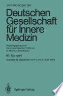 Verhandlungen der Deutschen Gesellschaft f  r Innere Medizin