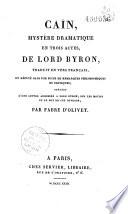Ca  n  myst  re dramatique en trois actes   traduit en vers fran  ais  et r  fut   dans une suite philosophique et critique