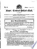 Bayer[isches] Central-Polizei-Blatt