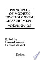 Principals of Modern Psychological Measurement