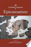 The Cambridge Companion To Epicureanism book