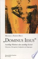 """""""Dominus Iesus"""""""