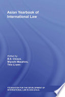 Asian Yearbook Of International Law book