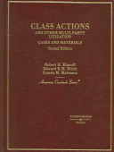 Class Actions and Other Multi party Litigation