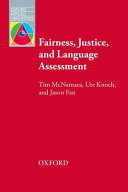 Fairness Justice and Language Assessment Paperback