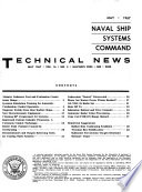 Naval Ship Systems Command Technical News
