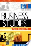 Business Studies Xi 6e
