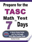 Prepare For The Tasc Math Test In 7 Days