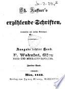 Ch. Kuffners erzahlende Schriften, dramatische und lyrische Dichtungen