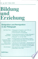 Emigration und Remigration in der P  dagogik