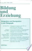 Emigration und Remigration in der Pädagogik