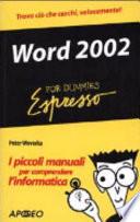 Word 2002 Espresso For Dummies
