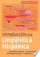 Introducci  n a la Ling    stica Hisp  nica