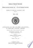 Catalogue of the Moli  re Collection in Harvard College Library