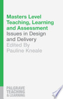 Masters Level Teaching  Learning and Assessment