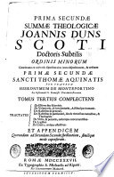 Joannis Duns Scoti ...