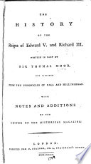 The History of the Reigns of Edward V  and Richard III