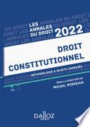 Annales Droit Constitutionnel 2022
