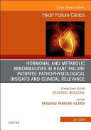 Hormonal and metabolic abnormalities in heart failure patients