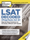 LSAT Decoded  PrepTests 52 61