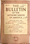 The Authors  League Bulletin
