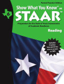 SWYK on STAAR Reading Gr  6  Parent Teacher Edition