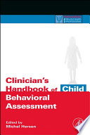 Clinician s Handbook of Child Behavioral Assessment